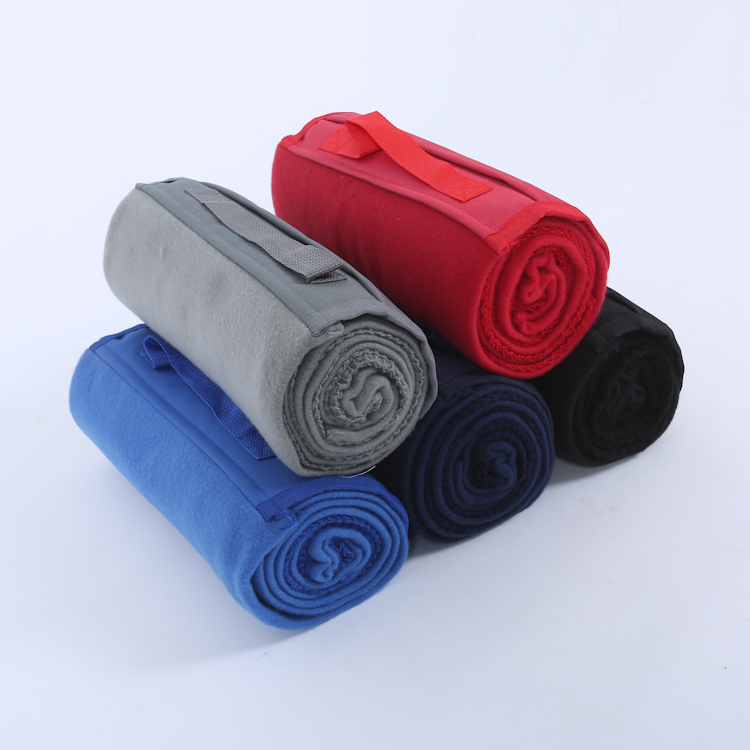 Wholesale Cheap Custom Polar Fleece Picnic Outdoor Beach Foldable Blanket