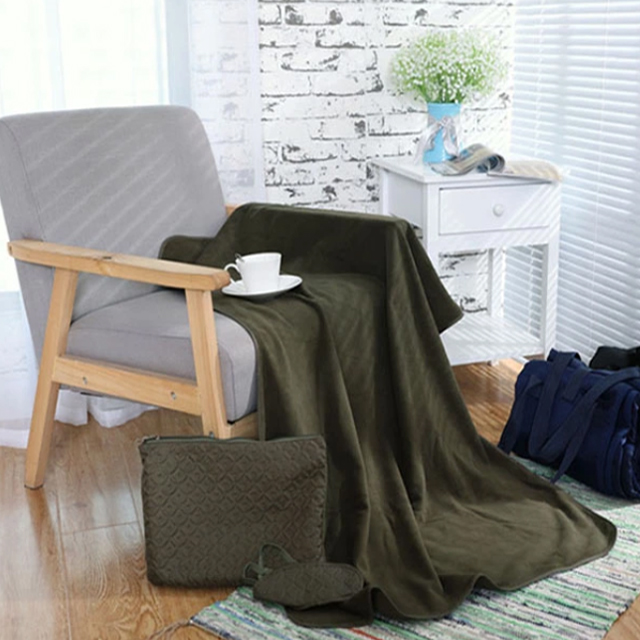 100% Polyester Solid Plain Fluffy Throw Blanket Sherpa Double Sided Blankets